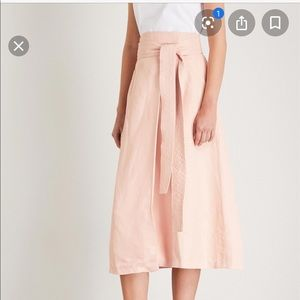 Sandro wrap front skirt in pale pink NWT